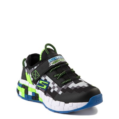Alternate view of Skechers Mega-Craft Sneaker - Little Kid - Black / Lime
