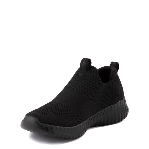 alternate view Skechers Elite Flex Wasick Sneaker - Little Kid - Black MonochromeALT3