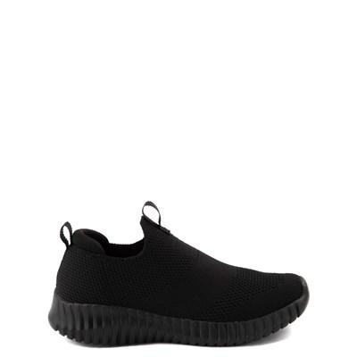Main view of Skechers Elite Flex Wasick Sneaker - Little Kid - Black Monochrome