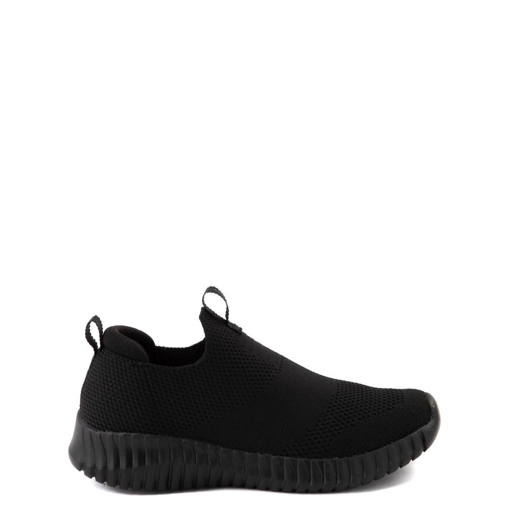 Skechers Elite Flex Wasick Sneaker - Little Kid - Black Monochrome