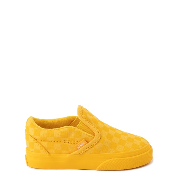 Vans Slip On Tonal Checkerboard Skate Shoe - Baby / Toddler - Spectra Yellow