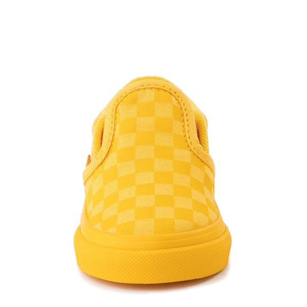 alternate view Vans Slip On Tonal Checkerboard Skate Shoe - Baby / Toddler - Spectra YellowALT4