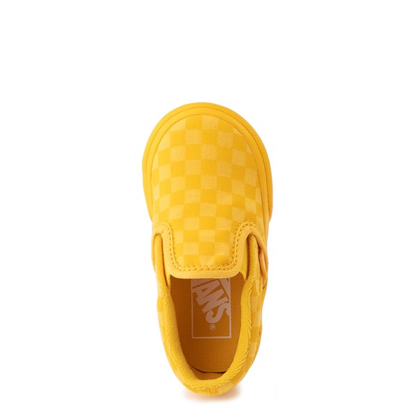 alternate view Vans Slip On Tonal Checkerboard Skate Shoe - Baby / Toddler - Spectra YellowALT4B