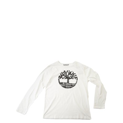 Main view of Timberland Tree Long Sleeve Tee - Boys Little Kid - Cream / Gray Camo