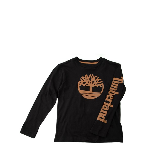 Timberland Tree Long Sleeve Tee - Boys Little Kid - Black / Wheat