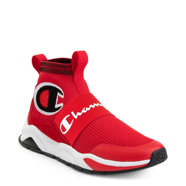 alternate view Mens Champion Rally Pro Athletic Shoe - RedALT5
