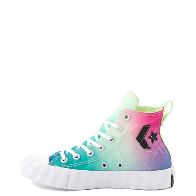 Alternate view of Converse Chuck Taylor All Star Hi UNT1TL3D Sneaker - White / Barely Volt