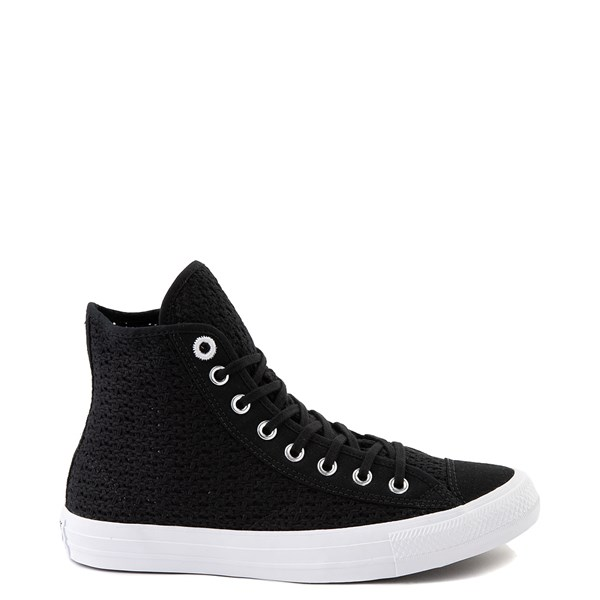 Womens Converse Chuck Taylor All Star Hi Crochet Sneaker - Black