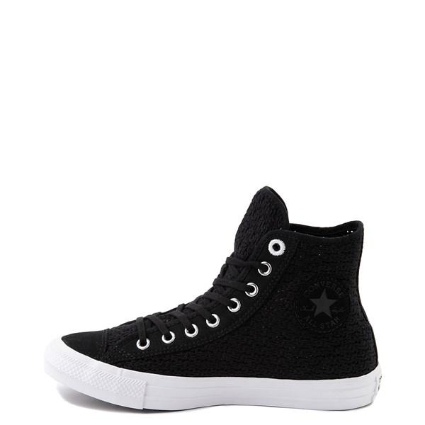 alternate view Womens Converse Chuck Taylor All Star Hi Crochet Sneaker - BlackALT1