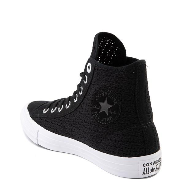 alternate view Womens Converse Chuck Taylor All Star Hi Crochet Sneaker - BlackALT2