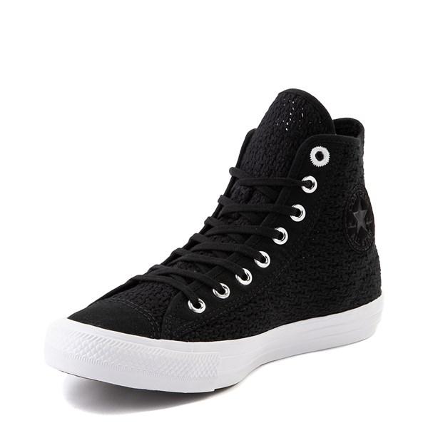 alternate view Womens Converse Chuck Taylor All Star Hi Crochet Sneaker - BlackALT3