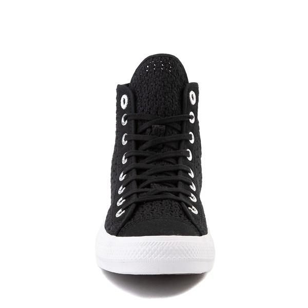 alternate view Womens Converse Chuck Taylor All Star Hi Crochet Sneaker - BlackALT4