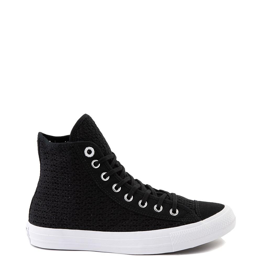 Womens Converse Chuck Taylor All Star Hi Crochet Sneaker - Black