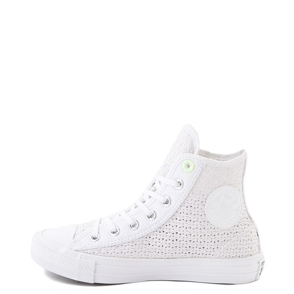 alternate view Womens Converse Chuck Taylor All Star Hi Crochet Sneaker - WhiteALT1