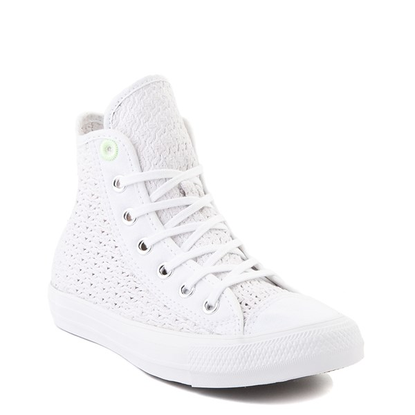 alternate view Womens Converse Chuck Taylor All Star Hi Crochet Sneaker - WhiteALT1B
