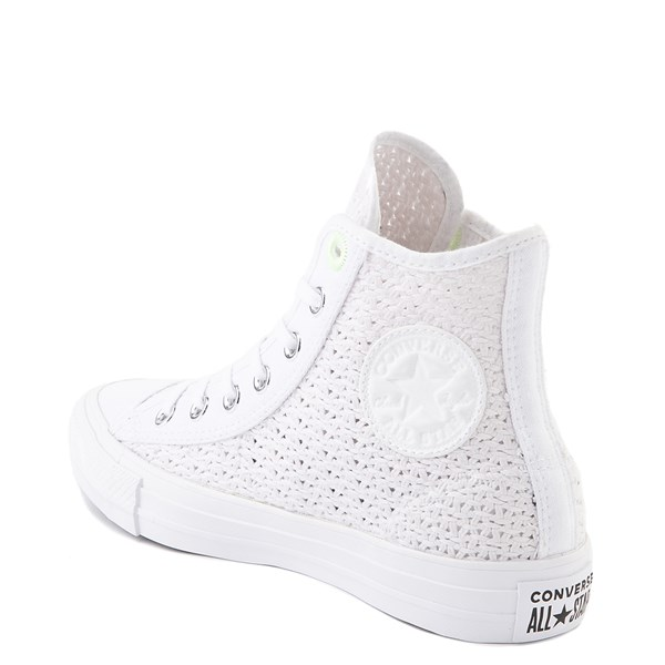 alternate view Womens Converse Chuck Taylor All Star Hi Crochet Sneaker - WhiteALT2