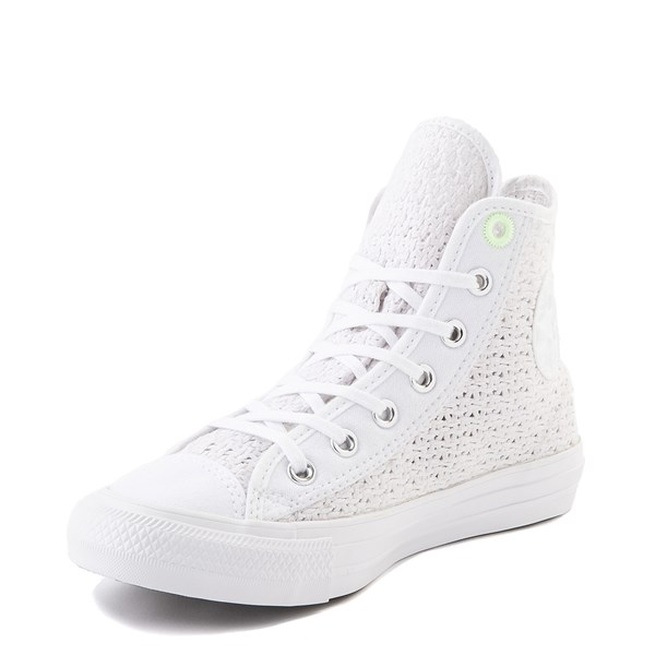alternate view Womens Converse Chuck Taylor All Star Hi Crochet Sneaker - WhiteALT3