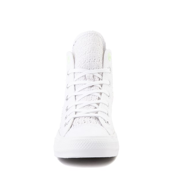 alternate view Womens Converse Chuck Taylor All Star Hi Crochet Sneaker - WhiteALT4