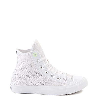 Main view of Womens Converse Chuck Taylor All Star Hi Crochet Sneaker - White