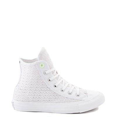 Main view of Womens Converse Chuck Taylor All Star Hi Crochet Sneaker - White