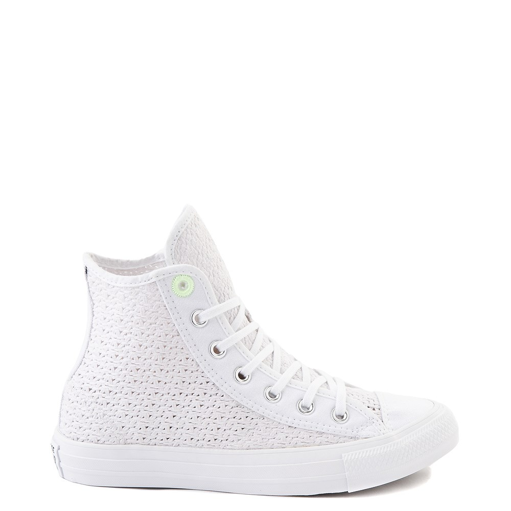Womens Converse Chuck Taylor All Star Hi Crochet Sneaker - White