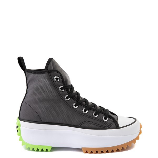 Main view of Converse Run Star Hike Platform Sneaker - Black / White / Ghost Green