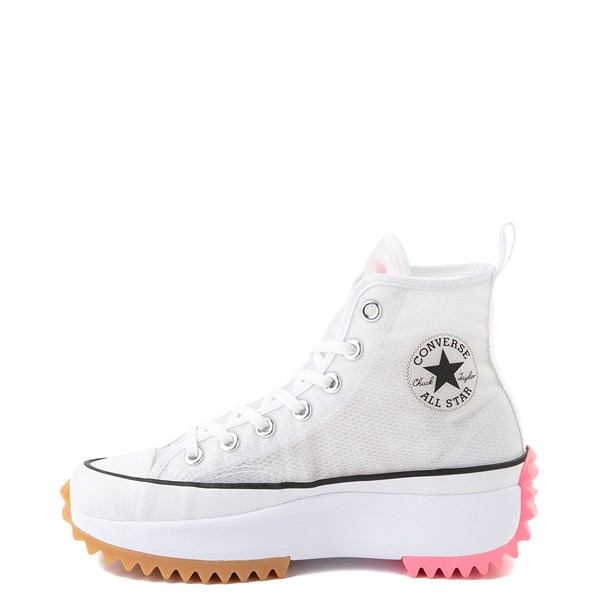 alternate view Converse Run Star Hike Platform Sneaker - White / Electric BlushALT1