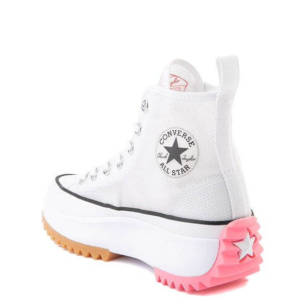 alternate view Converse Run Star Hike Platform Sneaker - White / Electric BlushALT2