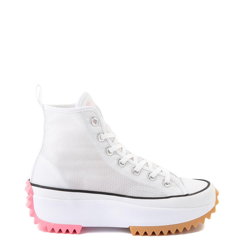 Converse Run Star Hike Platform Sneaker - White / Electric Blush