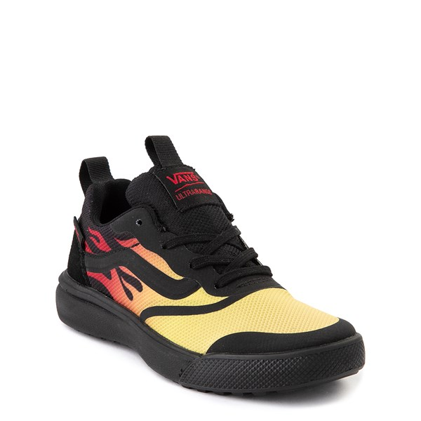 alternate view Vans UltraRange Rapidweld Sneaker - Little Kid - Black / FlameALT1