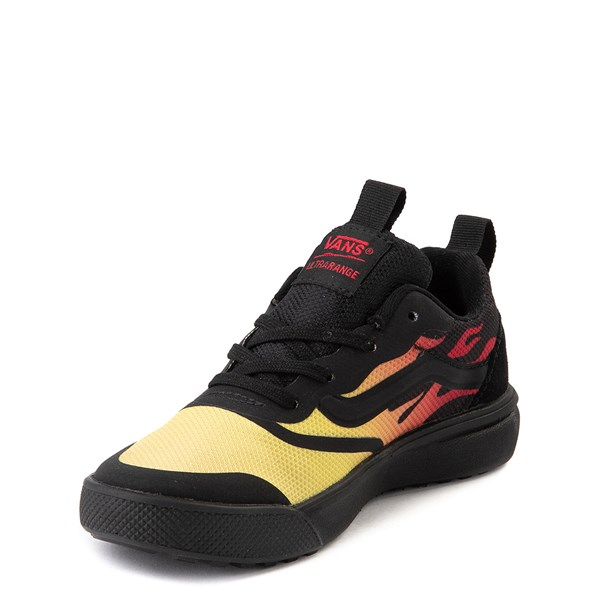alternate view Vans UltraRange Rapidweld Sneaker - Little Kid - Black / FlameALT3