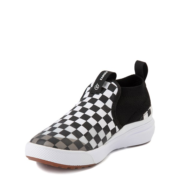 alternate view Vans XtremeRanger Checkerboard Sneaker - Big Kid - Black / True WhiteALT3