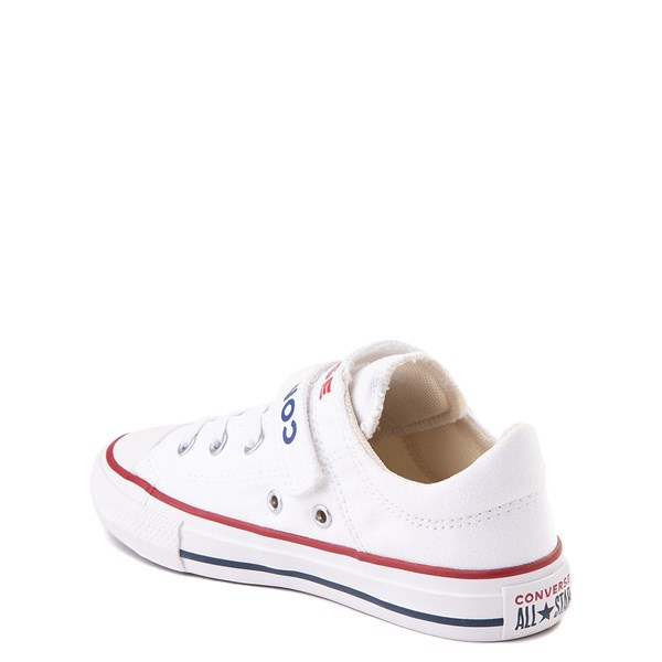 alternate view Converse Chuck Taylor All Star Lo Double Strap Sneaker - Little Kid / Big Kid - WhiteALT2