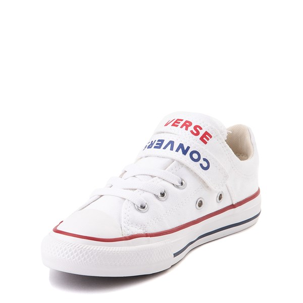 alternate view Converse Chuck Taylor All Star Lo Double Strap Sneaker - Little Kid / Big Kid - WhiteALT3-2