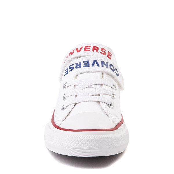 alternate view Converse Chuck Taylor All Star Lo Double Strap Sneaker - Little Kid / Big Kid - WhiteALT4