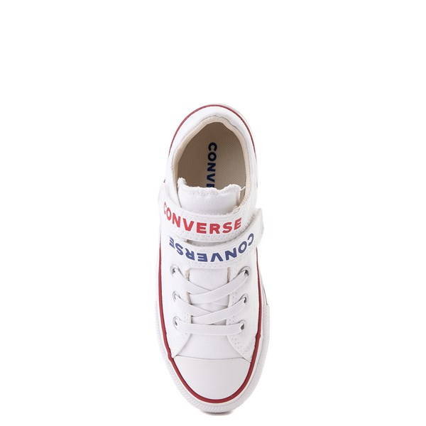 alternate view Converse Chuck Taylor All Star Lo Double Strap Sneaker - Little Kid / Big Kid - WhiteALT6