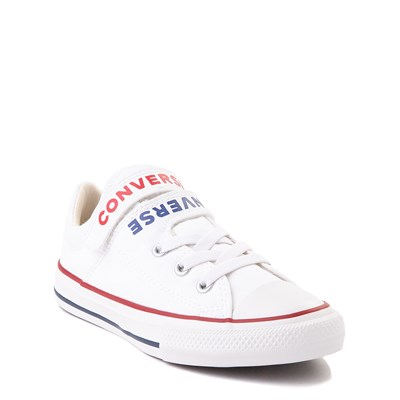 Alternate view of Converse Chuck Taylor All Star Lo Double Strap Sneaker - Little Kid / Big Kid - White