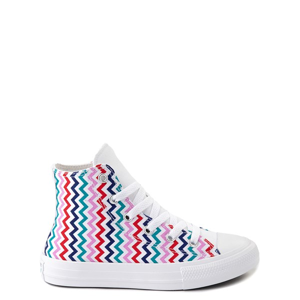Converse Chuck Taylor All Star Hi Voltage Sneaker - Little Kid / Big Kid - White / Multi