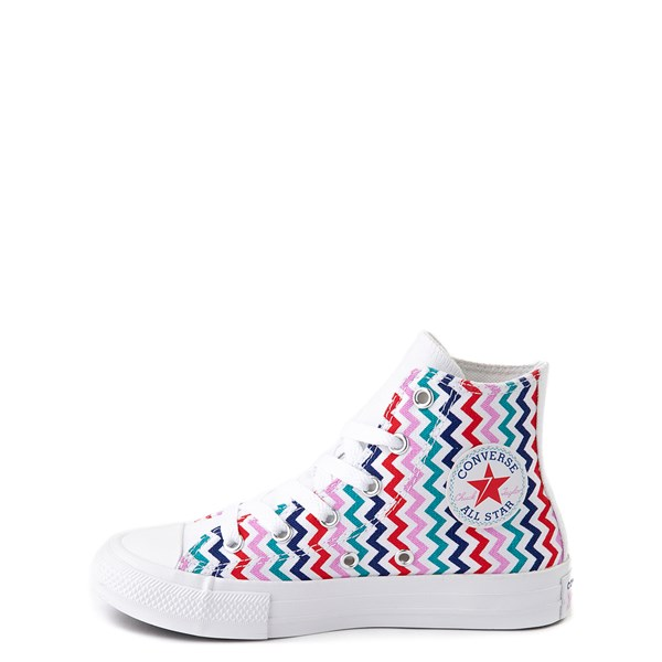 alternate view Converse Chuck Taylor All Star Hi Voltage Sneaker - Little Kid / Big Kid - White / MultiALT1