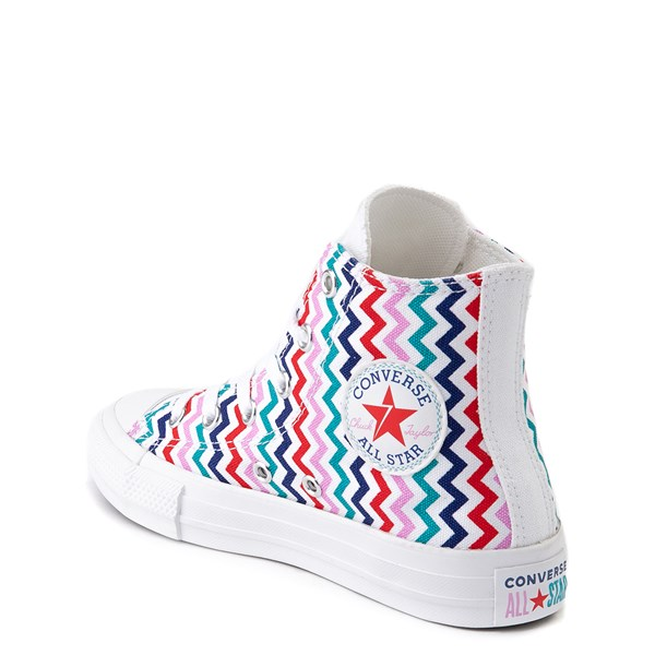 alternate view Converse Chuck Taylor All Star Hi Voltage Sneaker - Little Kid / Big Kid - White / MultiALT2