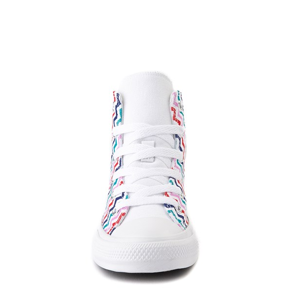 alternate view Converse Chuck Taylor All Star Hi Voltage Sneaker - Little Kid / Big Kid - White / MultiALT4