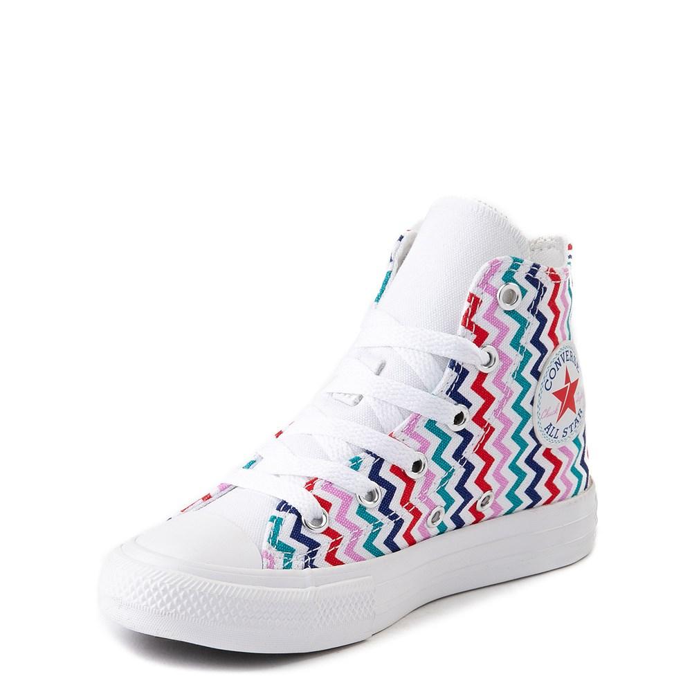 Converse Chuck Taylor All Star Hi Voltage Sneaker Little Kid Big Kid White Multi