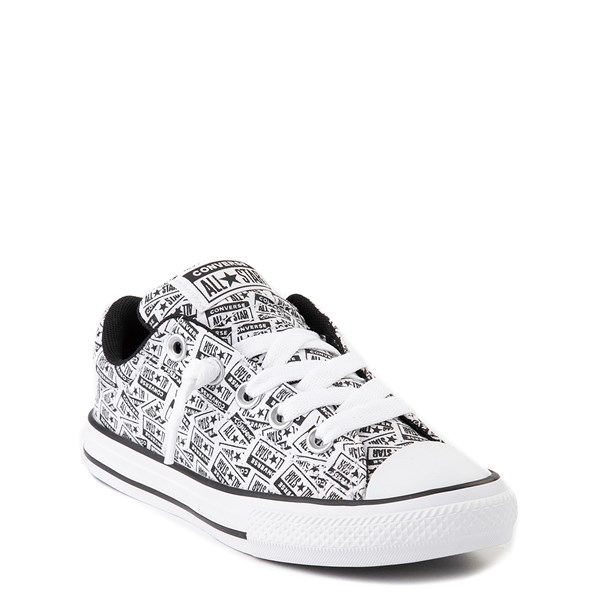alternate view Converse Chuck Taylor All Star Street Lo Sneaker - Little Kid / Big Kid - White / BlackALT1