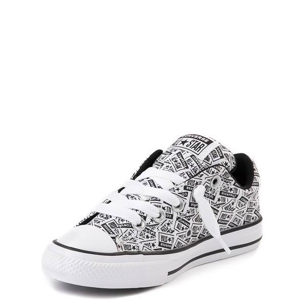 alternate view Converse Chuck Taylor All Star Street Lo Sneaker - Little Kid / Big Kid - White / BlackALT3