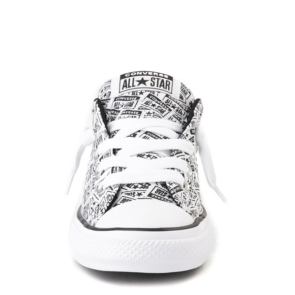 alternate view Converse Chuck Taylor All Star Street Lo Sneaker - Little Kid / Big Kid - White / BlackALT4