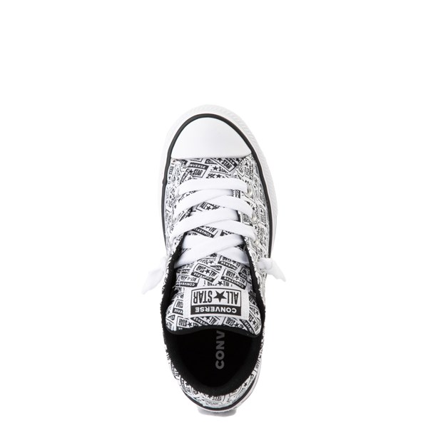 alternate view Converse Chuck Taylor All Star Street Lo Sneaker - Little Kid / Big Kid - White / BlackALT4B