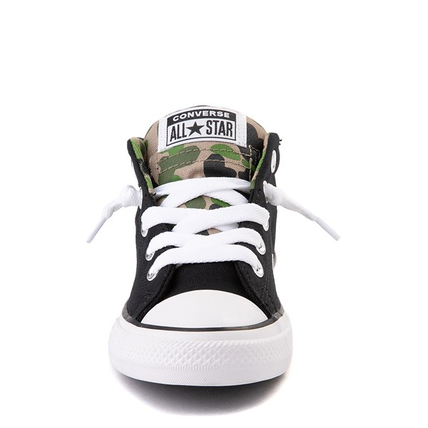 alternate view Converse Chuck Taylor All Star Street Mid Sneaker - Little Kid / Big Kid - Black / CamoALT4