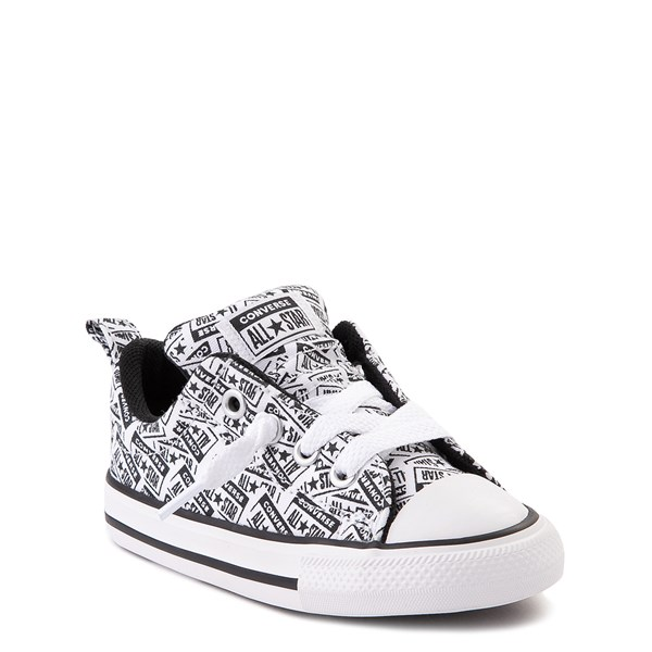 alternate view Converse Chuck Taylor All Star Street Lo Sneaker - Baby / Toddler - White / BlackALT1