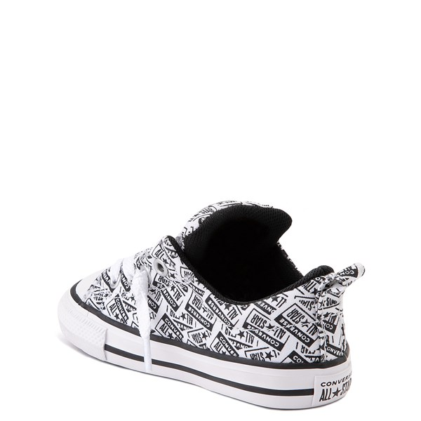 alternate view Converse Chuck Taylor All Star Street Lo Sneaker - Baby / Toddler - White / BlackALT2