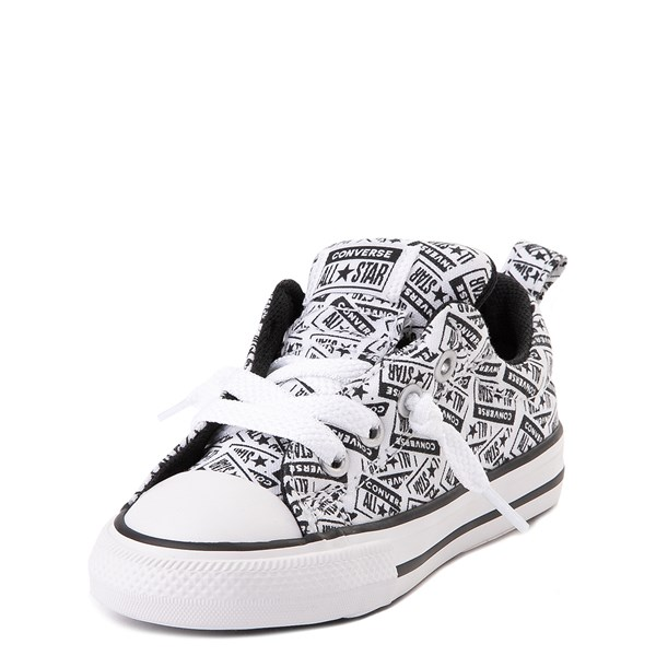 alternate view Converse Chuck Taylor All Star Street Lo Sneaker - Baby / Toddler - White / BlackALT3